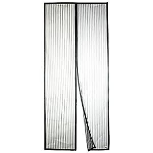 Apalus Zanzariera Magnetica per Porte 120 x 240 CM - Rete Super Fine, Tenda Totalmente Magnetica, si Chiude da Sola, Impedendo agli Insetti di entrare - Non Accorciabile (Nero) 5 spesavip