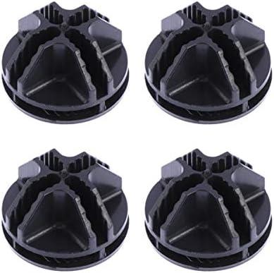 Healifty モジュラーオーガナイザークローゼットワイヤーグリッドキューブ収納棚ユニット用50pcsワイヤーキューブコネクターワイヤーキューブプラスチックコネクター