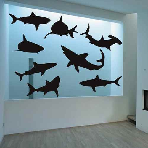 Shark Decal Decor Sticker Themed product image