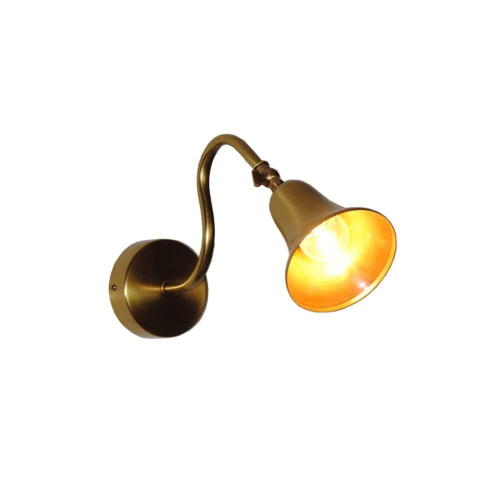 Lampada Lampada Pareteapplique Da Parete Lampade Da Parete Ottone In Rame Semplice Tonalità Moderna Creativa Illuminazione Regolabile Nordica