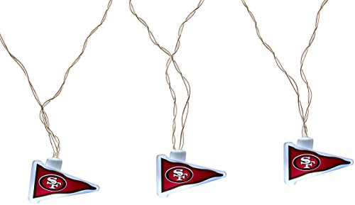 NFL San Francisco 49ers LED Pennant Party Lights Sf Christmas Lights