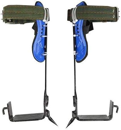 Climbing Artifact Adjustable Safety Belt Lanyard Rope Rescue Belt 2 Gears Tree Climbing Spikes