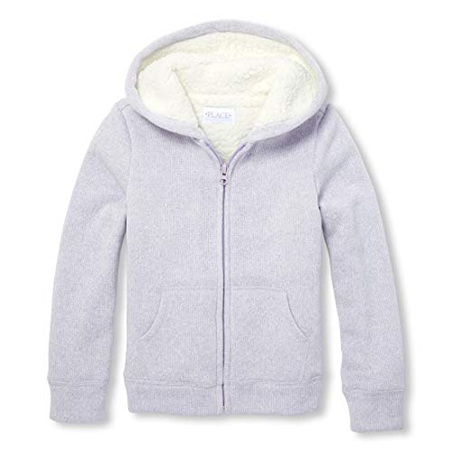 - The Children's Place Big Girls' Sherpa Fleece Hoodie, Violet Dusk, XS (4)