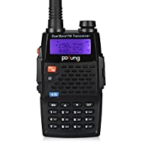 Pofung BF-F9+TP Tri-Power Transceiver, Dual Band UHF/VHF  Two-Way Radio(Black)