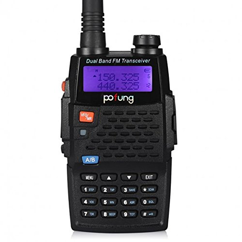 Baofeng/Pofung UV5R VHF/UHF Dual Band Two-Way Radio (Black) - 7