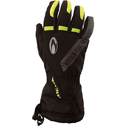 - Richa Tundra Leather/Textile Waterproof Motorcycle Gloves Black/fluo XL