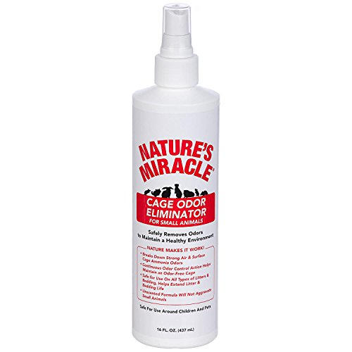 Pet Cage Cleaner (Nature's Miracle Cage Odor Elimantor for Small Animals - 16 oz)