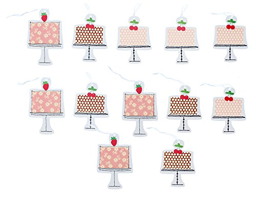 Paper Craft Gift Tags - 2 Pack - 12 Tags (Cake)