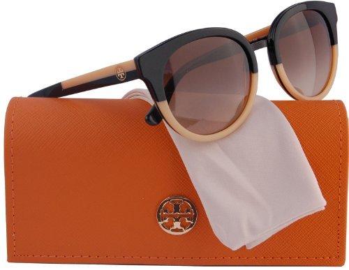 TORY BURCH TY7062 Panama Sunglasses Black/Cream (1236/13) TY 7062 123613 53mm