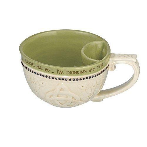 brating Heritage Celtic Teacups with Bag Holder (473071) (Leave Me Be, I'm Drinking Tea) ()