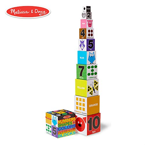 Melissa & Doug Nesting and Stacking Blocks: Numbers, Shapes, and Colors Alphabet Nesting Stacking Blocks