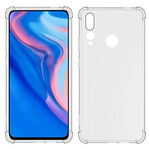 TIYA Case Clear for Huawei Y9 Prime 2019 y P Smart Z TPU Four Corners Cover  Transparent Soft