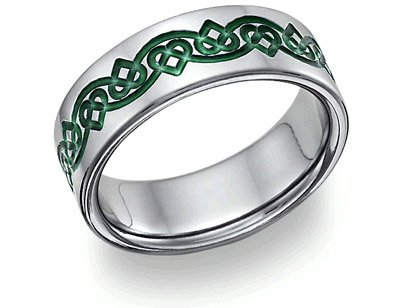 Irish Celtic Heart Love Knot Wedding - Band Continuous Knots Celtic