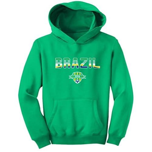 TeeStars - Brazil National Soccer Team 2016 Fans Youth Hoodie get discount