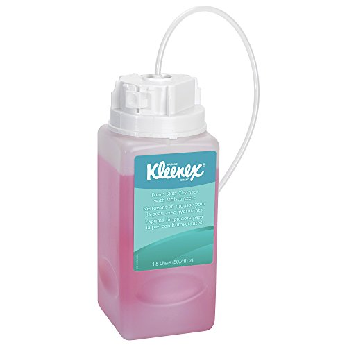 Kleenex Liquid Hand Soap with Moisturizers (11280), Pink, Floral Scent, 1.5L Under-Counter Bottles, 2 Bottles / (Undercounter Bottle)