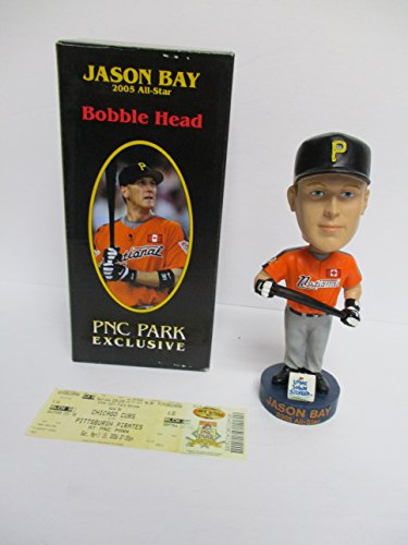 2006 Pittsburgh Pirates Jason Bay All Star Baseball Bobblehead with PNC Park Ticket Stub