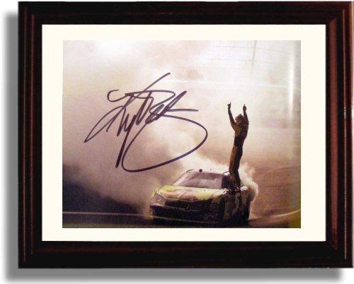Busch Autograph (Framed Kyle Busch Autograph Replica Print)