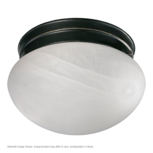 Flush Mount Fixture Cobblestone (Flush Mount with Faux Alabaster Glass in Cobblestone Finish: Old World)
