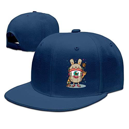 (Sakanpo Cyclops Flat Visor Baseball Cap, Fashion Snapback Hat Navy)