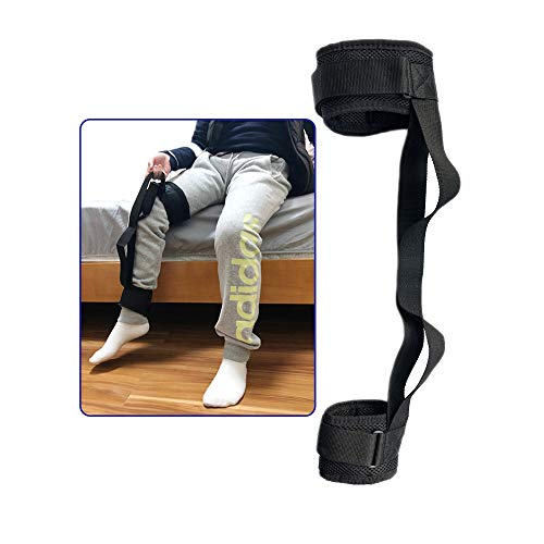 - Handicap Lifter Leg Lifter Strap Thigh Elderly Lifting Devices- Just for Teen, Kid & Thin Old Man-Foot Loop Mover with Hand Grip for Disability Pediatrics, Hip & Knee Replacement Mobility Aids