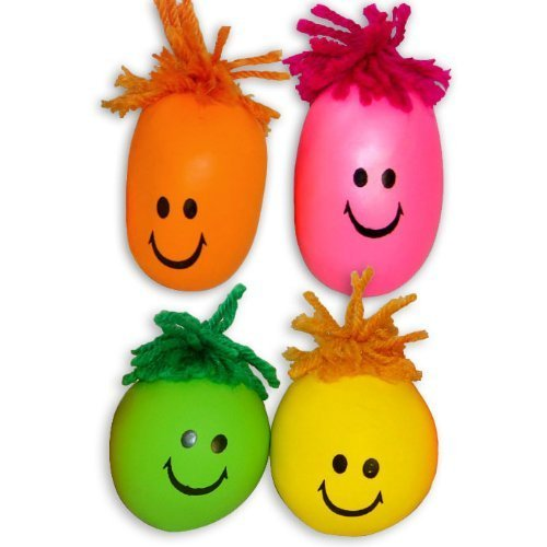 24 Colorful Smiley Face Stress Balls - Squishy, Squeezable Fidget Toy for Kids - High-Quality Materials for Lasting Use - Squeeze Balls Improve Anxiety and ADHD - Great Party Favors or Classroom Toys by Assortmart (Image #1)