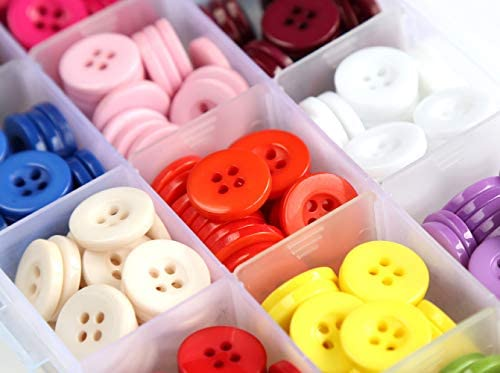 7 NATURweisseRound 15 mm plastic buttons practically versatile as decorative and jewelry knob VINTAGE like NEW from the 1980s