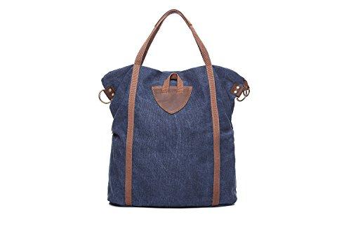 Blue M Cuir Vintage Bandoulière Grande Diagonale Capacité Size Sac Épaule En color Blue Crazy À Toile Mesdames Horse Ad6qF76x
