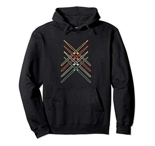 Drum Sweatshirt - Drumsticks Drums Hoodie - Musical Instrument Music Drummer
