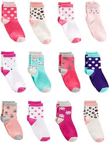 Simple Joys by Carter's Toddler Girls' 12-Pack Sock Crew