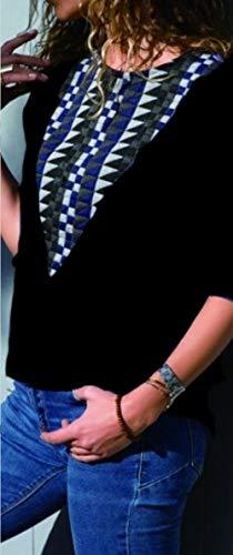 Fashion Femmes Hauts T Noir Blouse Sweat et Automne Longues Shirts Tee Shirt Tops Patchwork Rond Pulls Printemps Manches Col OUFour Femme shirts Jumper T n0g5qwnZY