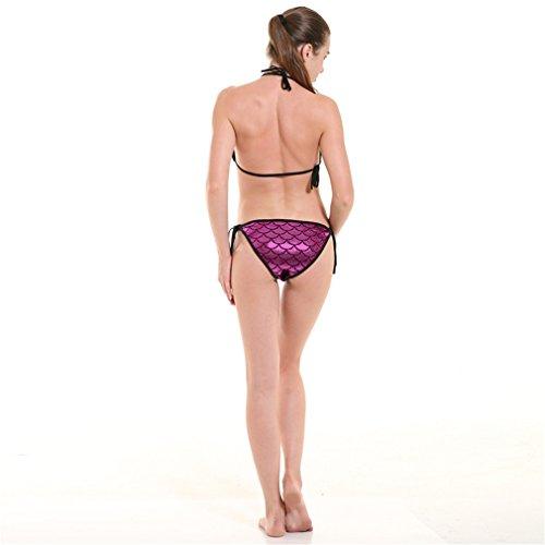 De Bikini Acvip Rouge Rose Poisson Avec Couleurs 11 Ecaille Swimwear Design Ajustable Femme Cq6x4