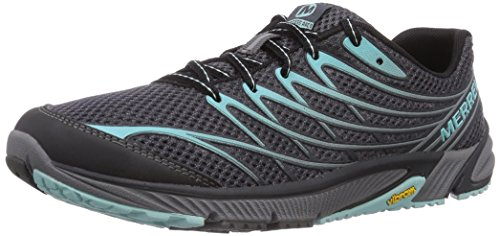 Merrell Women's Bare Access Arc 4 Trail Running Shoe, Black/Aventurine, 7 M US by Merrell