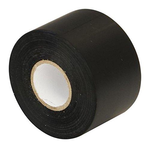 PVC negro elé ctrico aislamiento –  cinta 50 mm x 33 m –  grande (2 ') Premium resistente de alta calidad rollo por gocableties