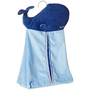 Levtex Baby Blue Whale Diaper Stacker