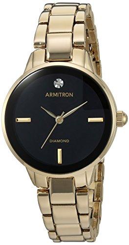 Armitron Women's Quartz Metal and Alloy Dress Watch, Color:Gold-Toned (Model: 75/5439BKGP)