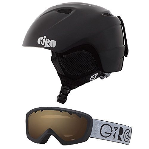 Kids Ski Helmet - Giro Slingshot CP Kids Snow Helmet w/ Matching Goggles Black Geo XS/S (49-52cm)