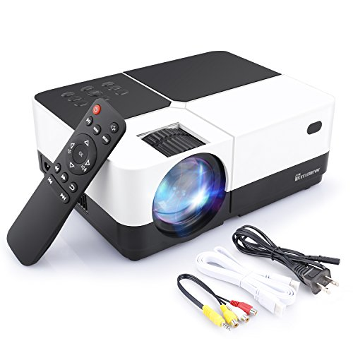 Projector,Arrinew 2800 Lumens LCD Portable Video Projector 150''Full HD Multimedia Theater for Home Cinema, TV, Laptops, Games and iPhone/Android Smartphones by Arrinew