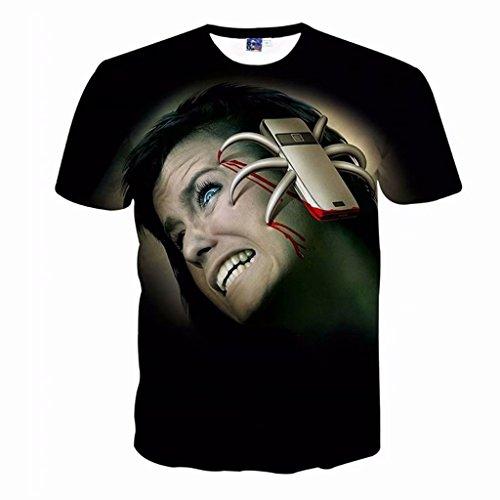 Tsyllyp 3D Printed Halloween Costume T-Shirt for Men Women ()