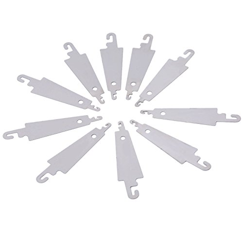 Mtsooning 10 Pcs Steel Hook Needle Threader for Hand Sew Ribbon Embroidery Cross Stitch