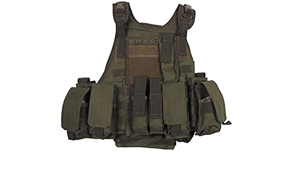 MFH Ranger - Chaleco militar modular (5 bolsillos): Amazon ...