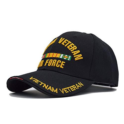 New US Air Force One Baseball Cap Men USAF for Army Cap Trucker Hat Mens Bone Trucker Cap for Adult,Black -