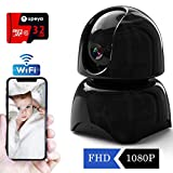 WiFi Security Camera Home 1080P Include 32GB Card,IP Surveillance HD Indoor Cameras Wireless Cam Baby/Elder/ Pet/Nanny Monitor,Night Vision, Motion Detection,Two-Way Audio For Sale