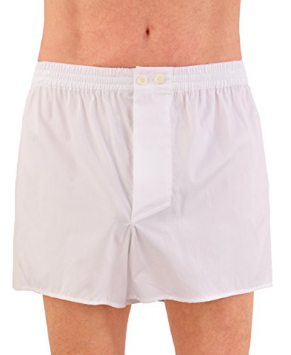 World's Finest Woven Boxer Shorts - 3 Pairs 3X-Large/White by Kabbaz-Kelly