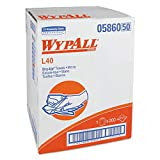 WypAll 05860 L40 Towels, Dry Up Towels, 19 1/2'' x 42'', White (Roll of 200 Towels)