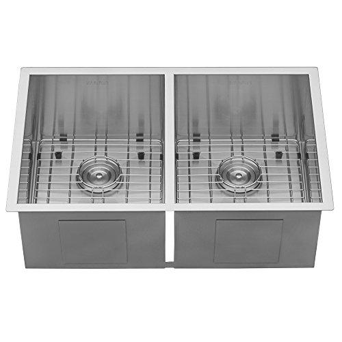 Ruvati RVH7350 Undermount 16 Gauge Kitchen Sink Double Bowl, 30'', Stainless Steel by Ruvati (Image #6)