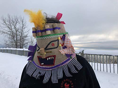 Cajun Courir de Mardi Gras Mask, traditional Mardi Gras costume, Handmade Creepy Burlap Adult Halloween, carnival, masquerade mask ()