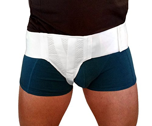 Right Side Support Belt - FlexaMed Right Side Inguinal/Groin Hernia Truss - Medium