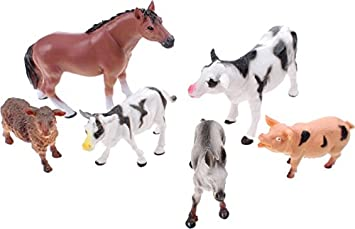 6 Large Farm Animals For Kids Toddlers Farmyard Toys: Amazon