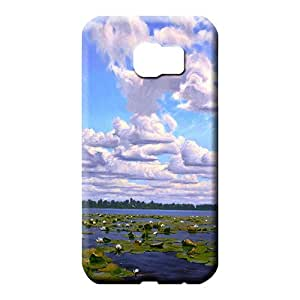 samsung galaxy s6 covers forever Durable phone Cases mobile phone back case sky blue air white cloud