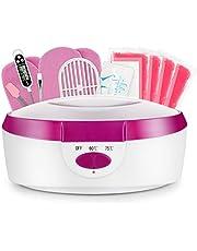 AYITOO Paraffinebaden Wasbad Voor Handen en Voeten met Accessoires, Voedt de Huid met Vocht Paraffine Wasbad Voor Handen en Voeten Apparaat - Roze 265W